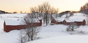 Winter Sunset at Jenne Farm, Reading. Vermont